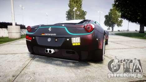 Ferrari 458 GT2 для GTA 4 вид сзади слева