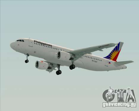 Airbus A320-200 Philippines Airlines для GTA San Andreas вид изнутри