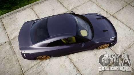 Nissan GT-R R35 2012 для GTA 4 вид справа
