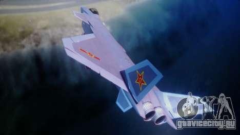 Chenyang J-20 Air Force BF4 для GTA San Andreas вид сзади слева