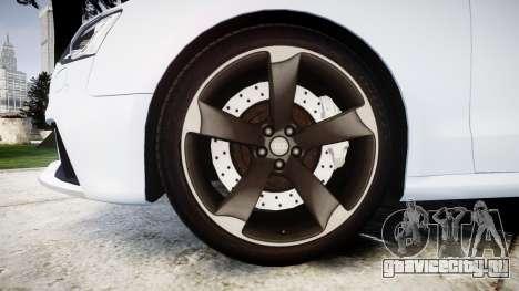 Audi RS5 2012 v2.0 для GTA 4 вид сзади