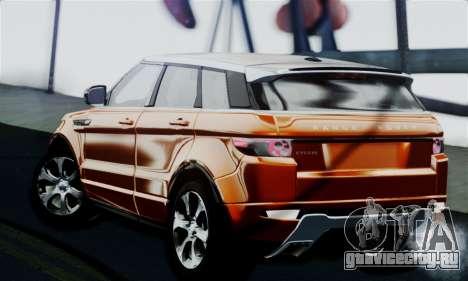 Range Rover Evoque 2014 для GTA San Andreas вид слева