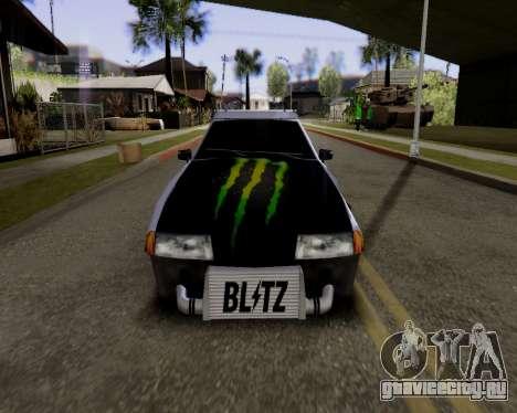 Elegy v2.0 для GTA San Andreas вид сзади слева