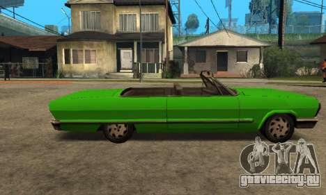 Beta Savanna для GTA San Andreas вид сзади слева