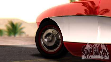 Chevrolet Corvette C1 1962 для GTA San Andreas вид сзади слева