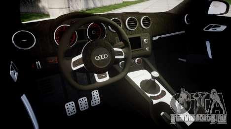 Audi TT RS 2010 для GTA 4 вид изнутри