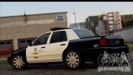 LAPD Ford Crown Victoria Whelen Lightbar для GTA San Andreas вид слева