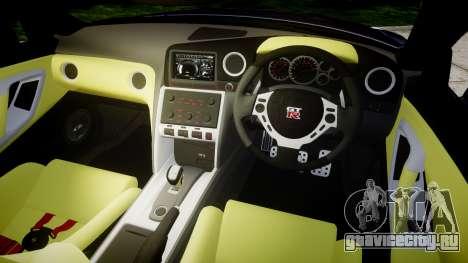 Nissan GT-R R35 2012 для GTA 4 вид изнутри