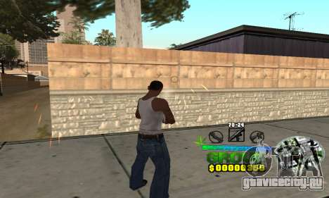 C-HUD Groove Street для GTA San Andreas второй скриншот