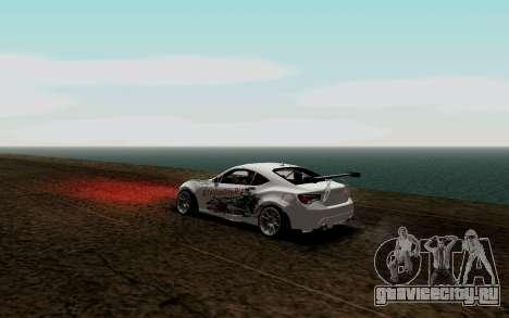 Subaru BRZ VCDT для GTA San Andreas вид сзади слева