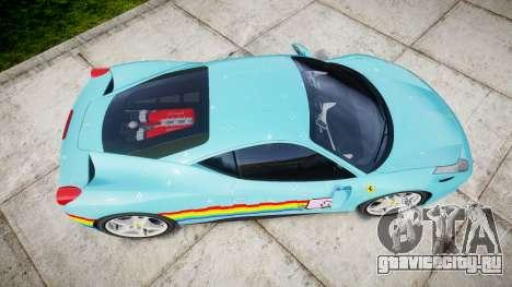 Ferrari 458 Italia 2010 v3.0 Purrari для GTA 4 вид справа