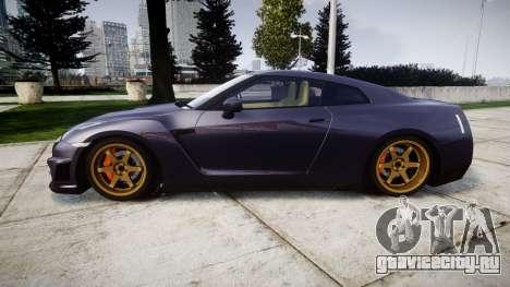 Nissan GT-R R35 2012 для GTA 4 вид слева