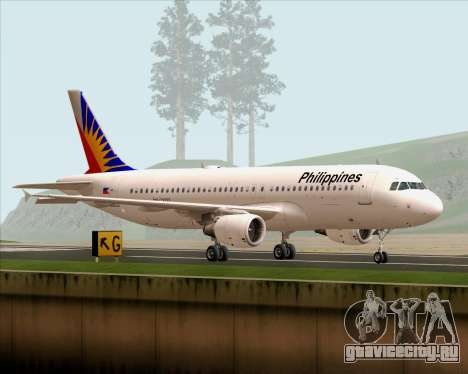 Airbus A320-200 Philippines Airlines для GTA San Andreas вид слева