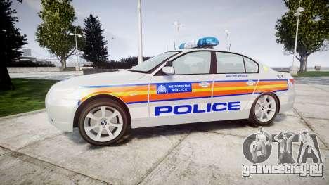BMW 525d E60 2009 Police [ELS] для GTA 4 вид слева