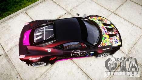 Ferrari 458 GT2 для GTA 4 вид справа