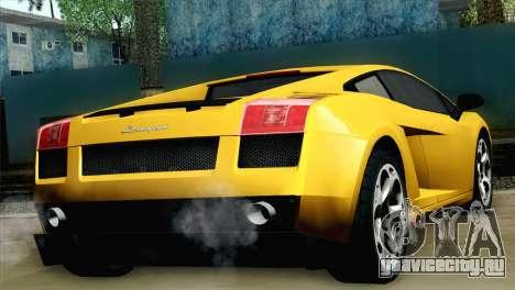 Lamborghini Gallardo 2005 для GTA San Andreas вид слева