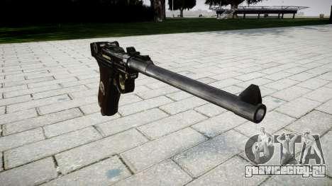 Артиллерийский пистолет Lange Р08 для GTA 4