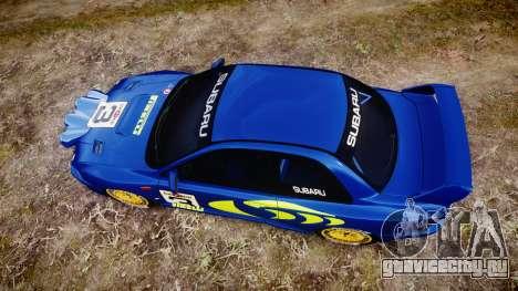 Subaru Impreza WRC 1998 v4.0 World Rally для GTA 4 вид справа