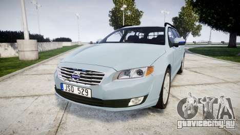 Volvo V70 2014 Swedish Police [ELS] Unmarked для GTA 4