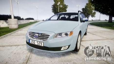 Volvo V70 2014 Swedish Police [ELS] Unmarked для GTA 4