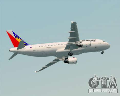 Airbus A320-200 Philippines Airlines для GTA San Andreas вид сверху