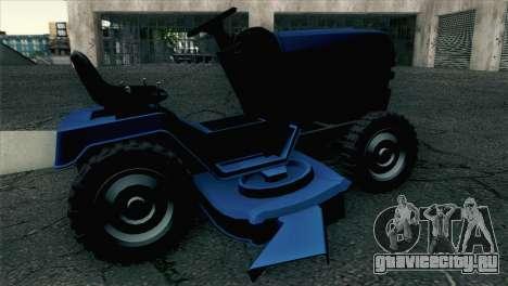 GTA V Mower для GTA San Andreas вид сзади слева