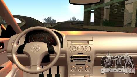 Mazda 6 MPS для GTA San Andreas вид сзади слева