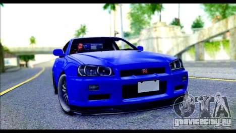 Nissan Skyline GTR R-34 from Fast and Furious 4 для GTA San Andreas