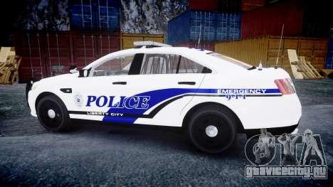 Ford Taurus 2014 Liberty City Police [ELS] для GTA 4 вид слева