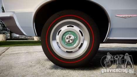 Pontiac GTO 1965 skull для GTA 4 вид сзади