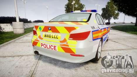 BMW 525d E60 2010 Police [ELS] для GTA 4 вид сзади слева