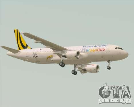 Airbus A320-200 Tigerair Philippines для GTA San Andreas вид сзади