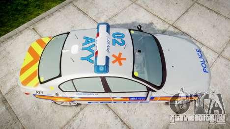 BMW 525d E60 2009 Police [ELS] для GTA 4 вид справа