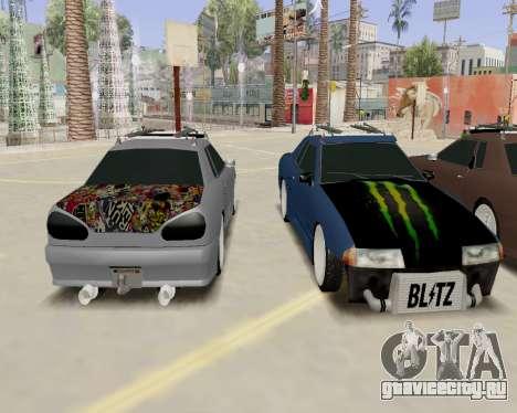 Elegy v2.0 для GTA San Andreas вид справа
