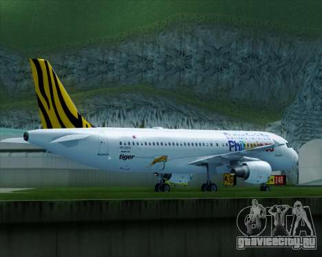 Airbus A320-200 Tigerair Philippines для GTA San Andreas вид справа