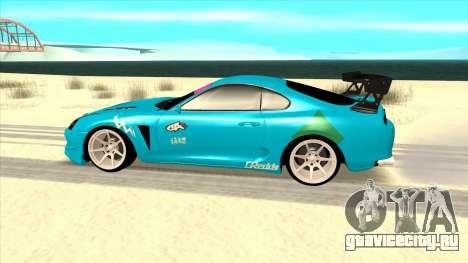 Toyota Supra Blue Lightning для GTA San Andreas вид слева