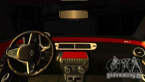 Chevrolet Camaro Police для GTA San Andreas вид сзади слева