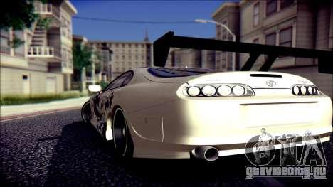 Toyota Supra Street Edition для GTA San Andreas вид слева