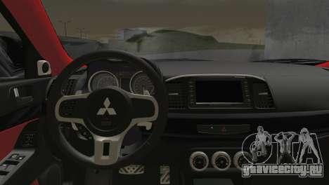 Mitsubishi Lancer Evolution X Racing Miku 2014 для GTA San Andreas вид сзади слева