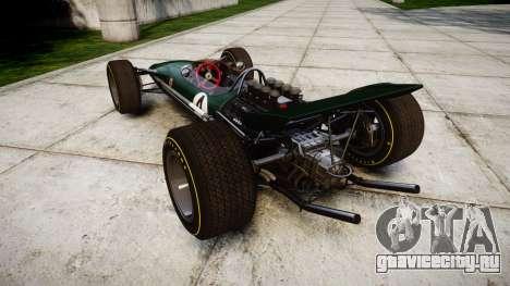 Lotus Type 49 1967 [RIV] PJ3-4 для GTA 4 вид сзади слева