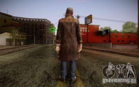 Aiden Pearce from Watch Dogs v5 для GTA San Andreas второй скриншот