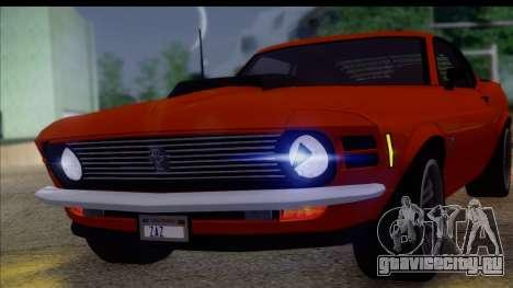 Ford Mustang Boss 429 1970 для GTA San Andreas вид сзади слева