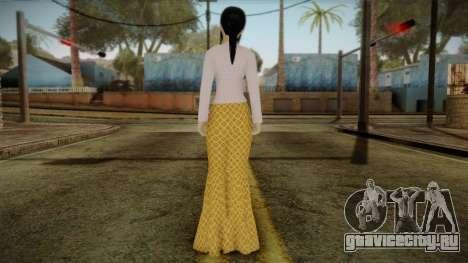 Kebaya Girl Skin v1 для GTA San Andreas второй скриншот