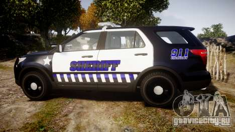 Ford Explorer 2013 Sheriff [ELS] v1.0L для GTA 4 вид слева