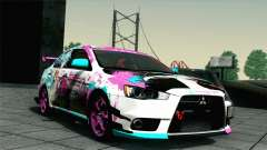 Mitsubishi Lancer Evolution X Racing Miku 2014 для GTA San Andreas