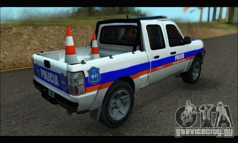 Ford Ranger 2011 Patrulleros CPC для GTA San Andreas вид слева