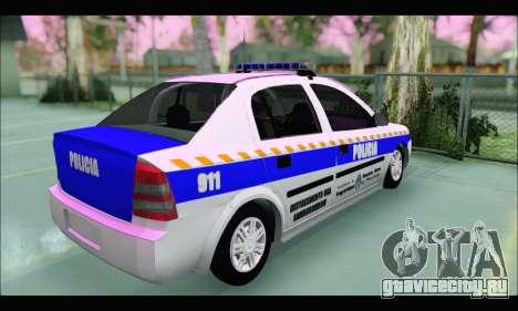 Chevrolet Astra Policia Vial Bonaerense для GTA San Andreas вид сзади слева