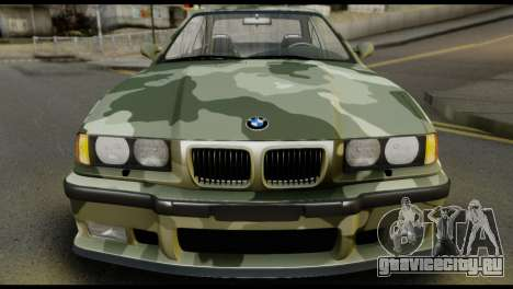 BMW M3 E36 Camo Drift для GTA San Andreas вид справа