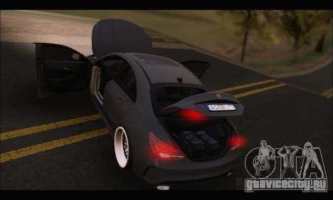 Mercedes Benz CLA 250 2014 для GTA San Andreas вид сверху