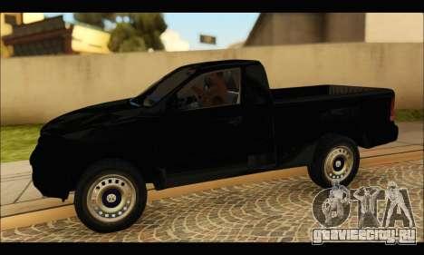 Volkswagen Amarok Cabina Simple для GTA San Andreas вид слева